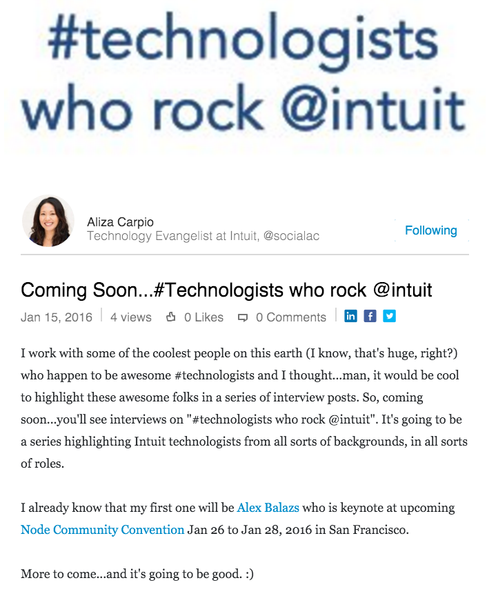 Technologists who rock @intuit